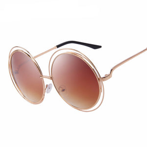 MERRY'S ROUND SUNGLASSES SHADES DOUBLE BIG FRAME - impaviid