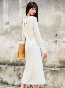 MINIMALIZM THIN KNITTED MAXI DRESS