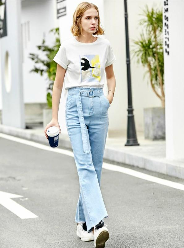 90'S STYLE WIDE LEG JEANS IN BELT - IMPAVIID
