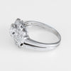Diamond Wedding Ring Set Vintage 14k White Gold