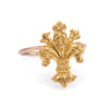 Antique Victorian Fleur de Lis Conversion Ring Vintage 14k