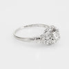 Antique Deco Diamond Engagement Ring Vintage Platinum Estate Bridal Jewelry
