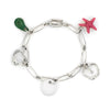 Tiffany & Co Elsa Peretti 5 Charm Bracelet Sterling Silver Estate