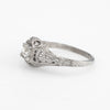 Antique Deco Diamond Ring Platinum Filigree Engagement Vintage Fine Jewelry 4