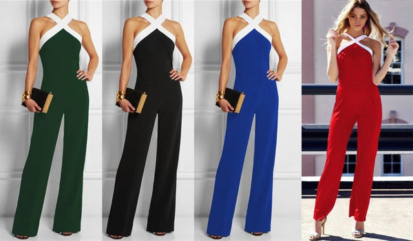 Mamir's Express - Elegant Ladies Plus Size Rompers  Jumpsuit