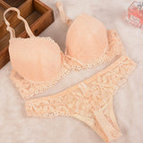 Mamir's Express - Lace Embroidery Bra Set Women Push Up Underwear Set