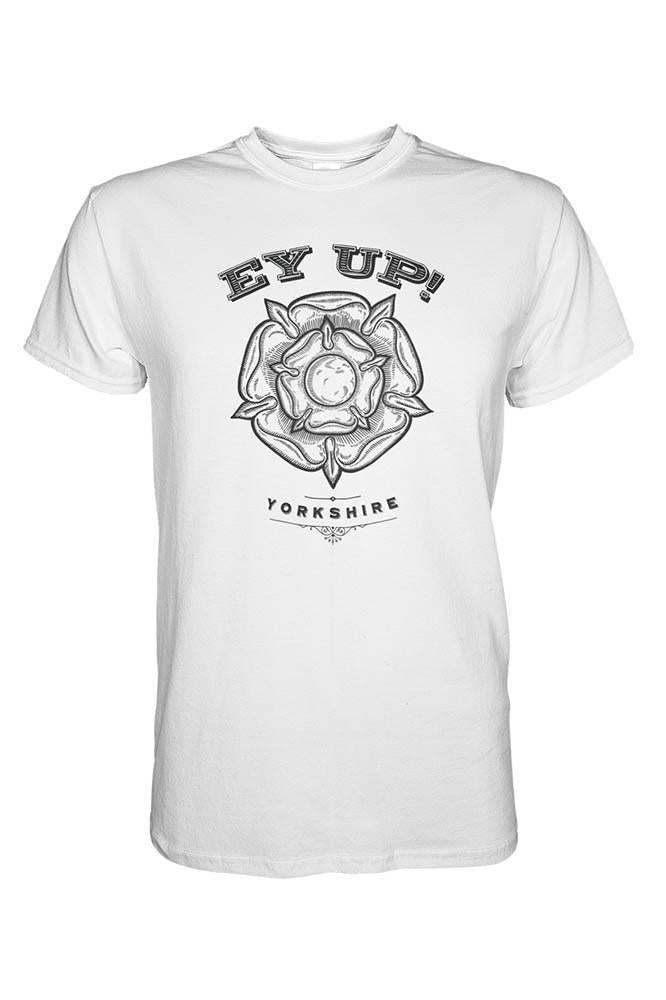 Ey Up Rose white Yorkshire t shirt