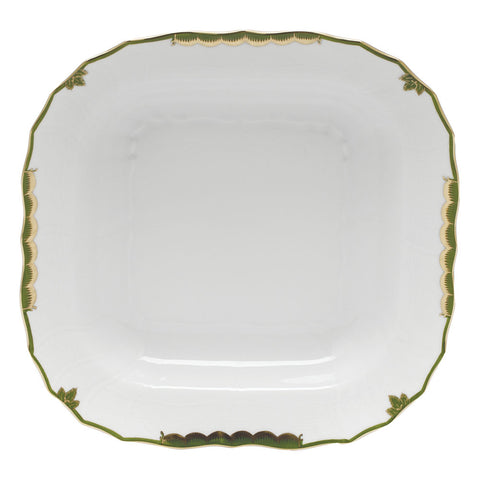 Herend Princess Victoria, Dark Green Square Fruit Dish