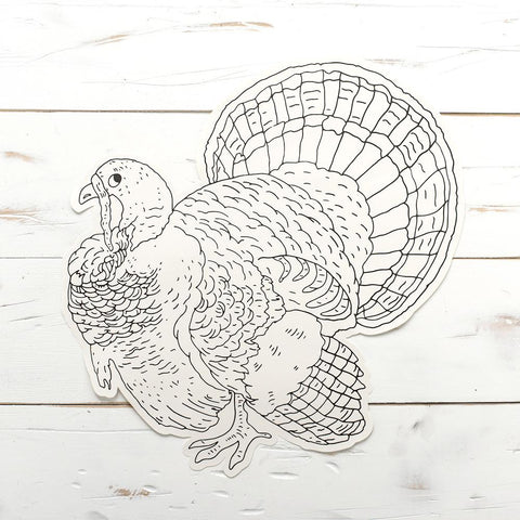 Coloring Turkey Paper Placemat Sheets