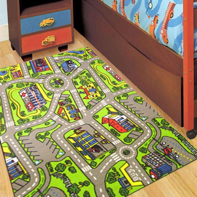Kids City Road 133 Fun Play Rug, [cheapest rugs online], [au rugs], [rugs australia]
