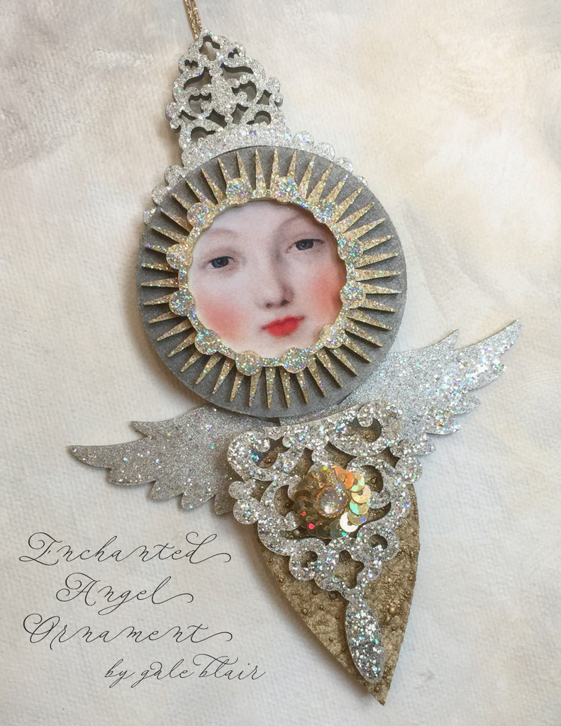 Original Enchanted Angel by Gale Blair - paperwhimsy