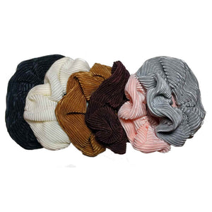 Pleated Satin Scrunchies - SET of 6