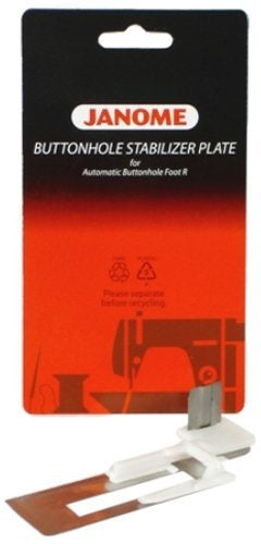 Button hole stabilizer plate