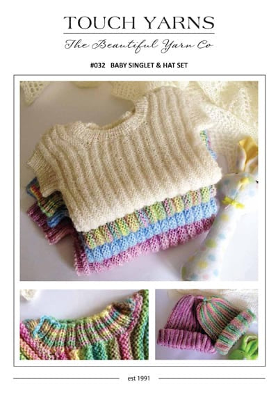 Touch Baby Singlet & hat 4ply #032