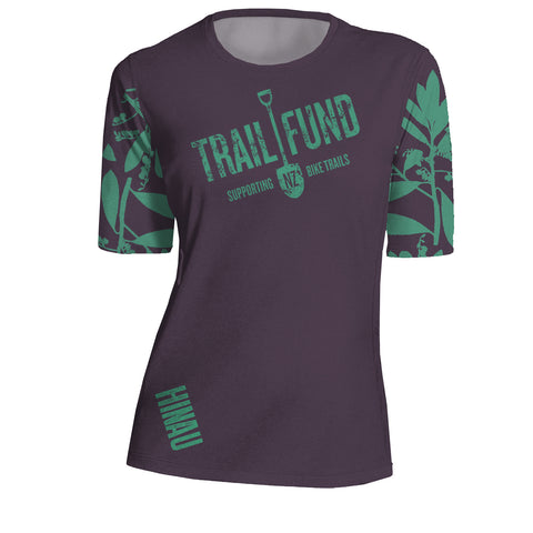"Short Sleeve Women's Riding Top ""Leaves"""