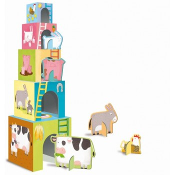 Baby Farm Animals Building Block Set