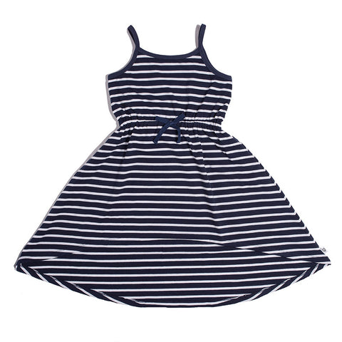 Island Dress -Navy Stripe (3-12)