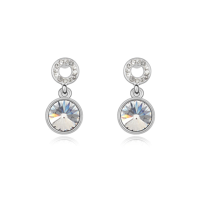 Clear Swarovski Elements Crystal Drop Earrings