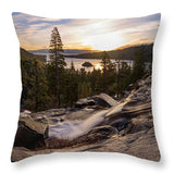 Eagle Falls Morning Glow By Brad Scott - Throw Pillow