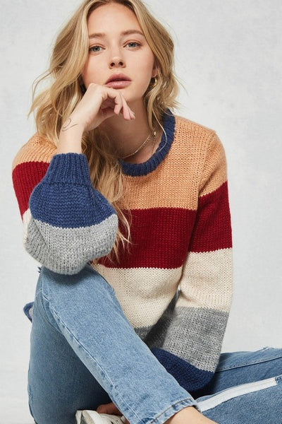 Aspen Colorblock Sweater