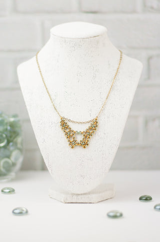 Deco Collection: Micromaille Necklace - Golden Green