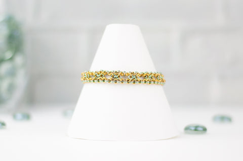 Deco Collection: Micromaille Bracelet - Golden Green