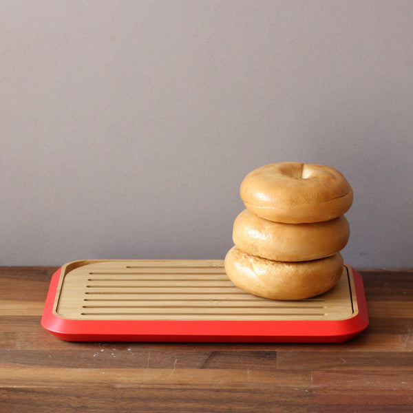 Small Slatted Bamboo Bread Board
