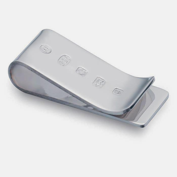 a sterling silver hallmarked polished money clip