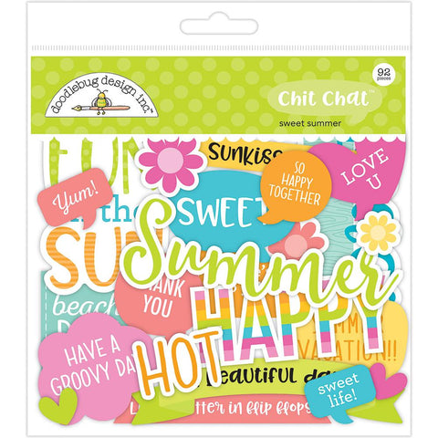Doodlebug Chit Chat Odd & Ends - Sweet Summer