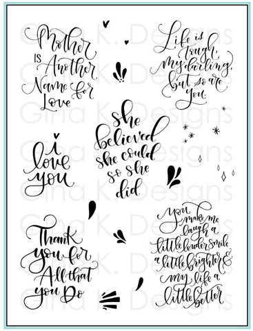 Clear Stamps Lettered and Lovely