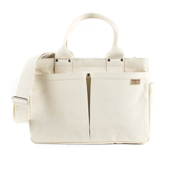 Threadline Tool Tote With Shoulder Strap - Off White