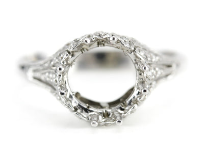 The Kennedy Setting Semi-Mount Engagement Ring by Elizabeth Henry