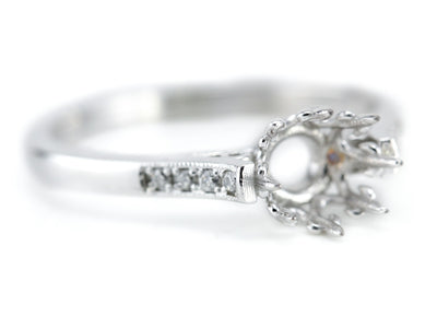 The Ardmore Diamond Setting Semi-Mount Engagement Ring from Elizabeth Henry