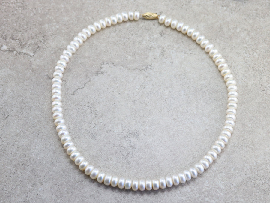 Beaded Freshwater Coin Pearl Necklace