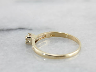 Simple Contemporary Diamond Engagement Ring