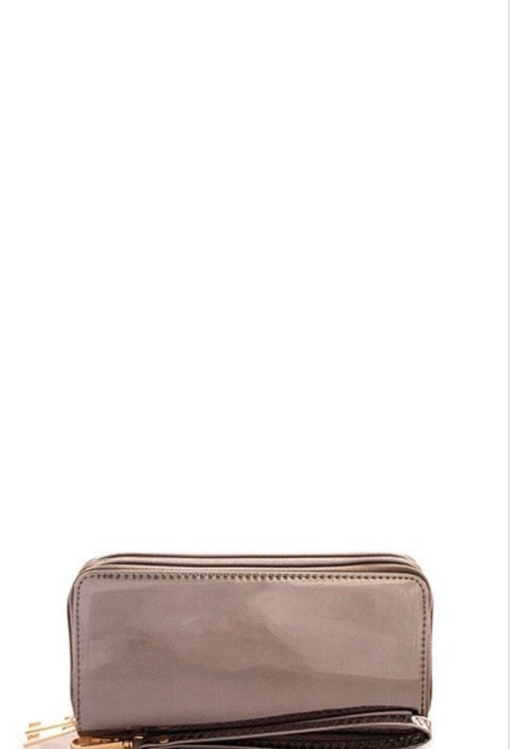 Metallic Wallet w/Wristlet