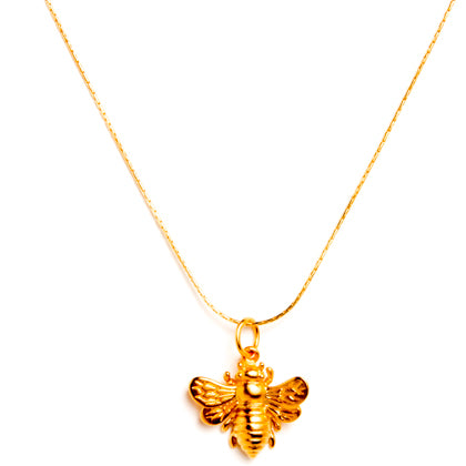 24k Gold Vermeil Bee Necklace