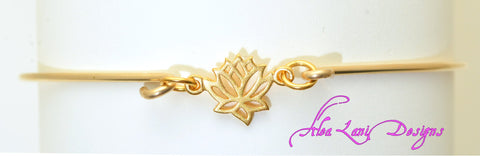 14k Gold Filled Lotus bangle
