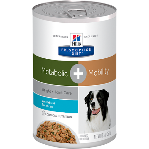 Hill's Canine Metabolic + Mobility Vegetable & Tuna Stew - Case