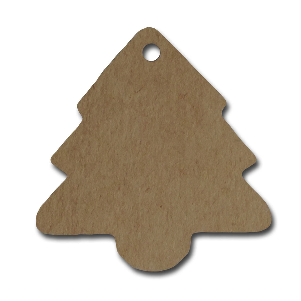Evergreen Tree Kraft Tags