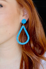 Drip Drop Earrings - Blue