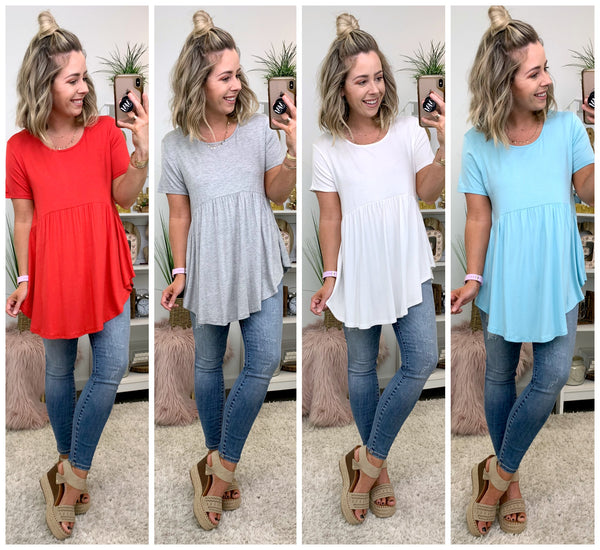 Frankie Babydoll Tunic Top - Madison + Mallory