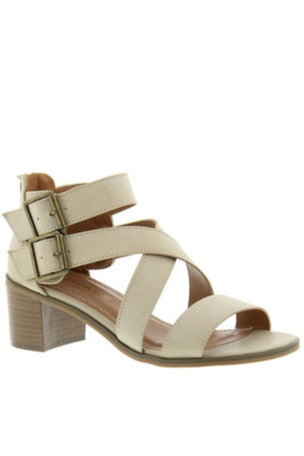 Havarti Taupe Strappy Block Sandal - FINAL SALE - Madison + Mallory