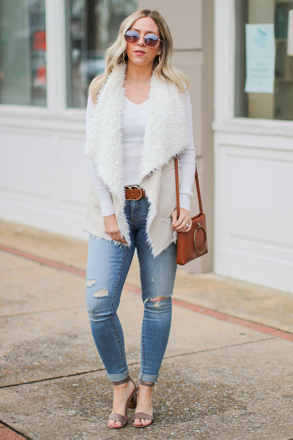 Fearlessly Fab Fur Vest - FINAL SALE - Madison + Mallory