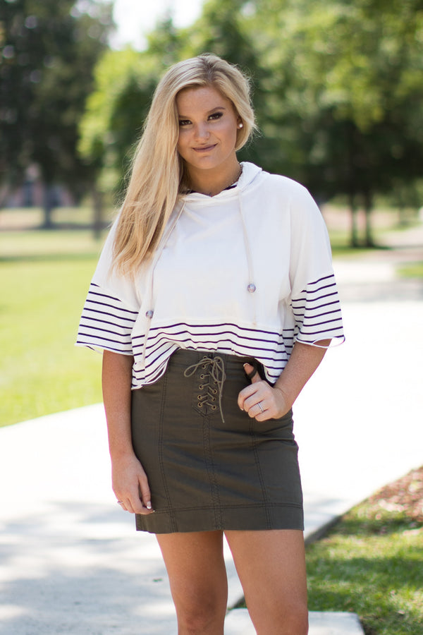 Lace Up Skirt | Curve - FINAL SALE - Madison + Mallory