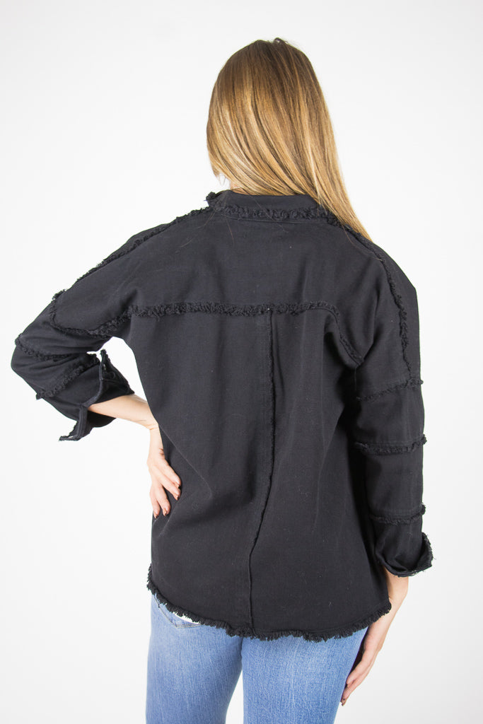 Rock with Me Frayed Jacket - Madison + Mallory
