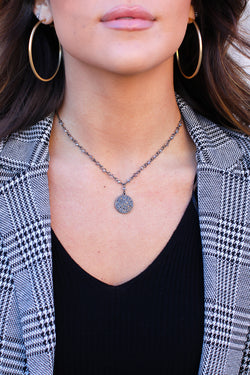 Black All I Can Do Coin Necklace + MORE COLORS - FINAL SALE - Madison + Mallory