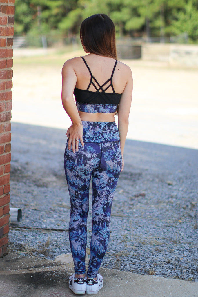 Abstract Mesh Leggings - FINAL SALE - Madison + Mallory