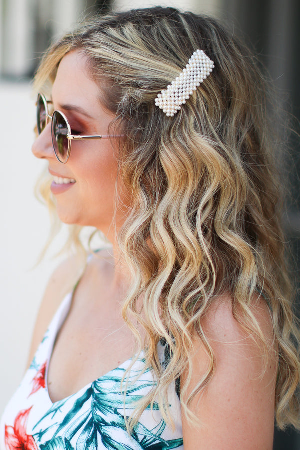 Pearl Pearly Whites Hair Clip - Madison + Mallory