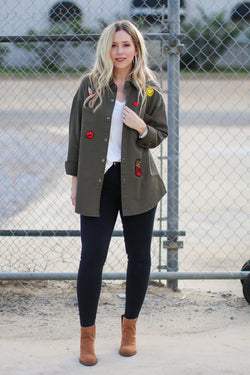 Patched Up Jacket - FINAL SALE - Madison + Mallory